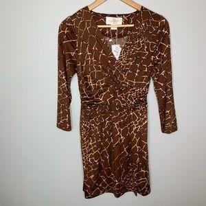 Julie Brown Neiman Marcus Giraffe Print Dress - XS